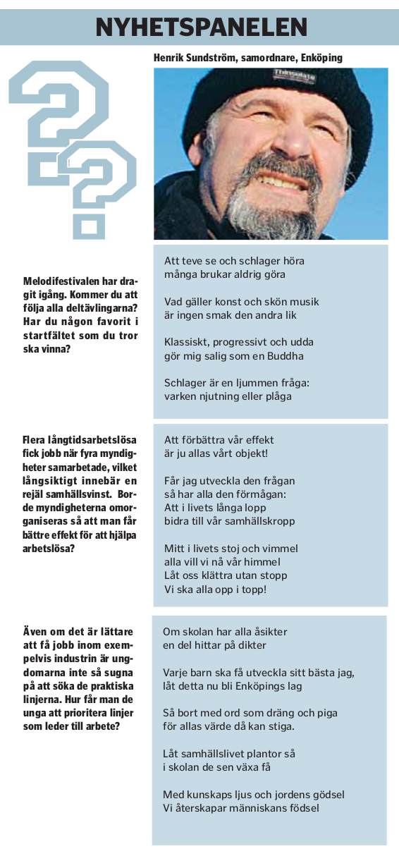 Klipp från Ena-Håbo tidningen