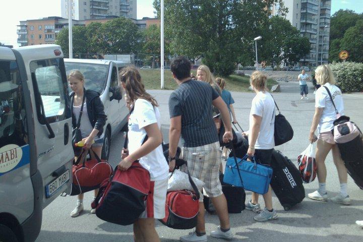 Dags att åka minibuss mot centralstationen